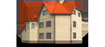Кирпичные дома, гаражи и ангары