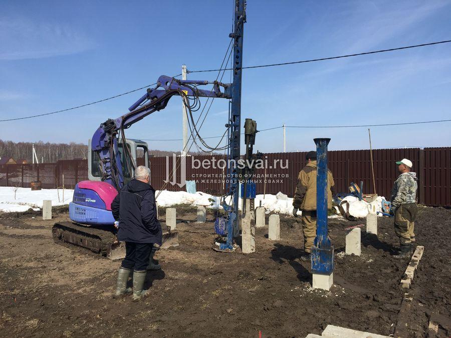 Стоимость свайного фундамента 6 на 8 в Подольске